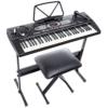 Alesis Melody 61 Portables Tasten mit eingebauten Lautsprechern inkl. Mikrofon, Kopfhörer, Keyboardständer und Bank -