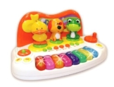 Kinder Baby Keyboard Animal Piano mit Tierstimmen Licht Sounds -
