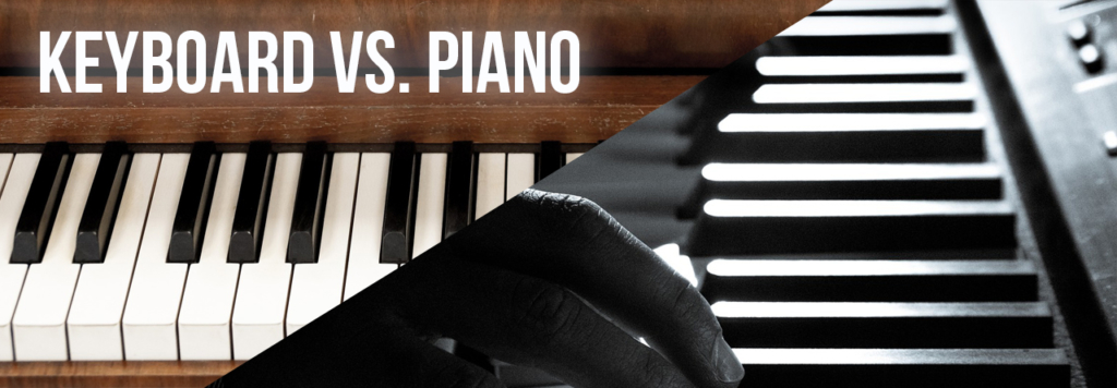 Vergleich Keyboard vs. Piano Header