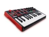 Akai Professional MPK Mini MKII Kompakter USB MIDI Keyboard & Pad Controller mit 25 tasten und anschlagdynamischen Pads, MPC Essentials (SONiVOX Wobble und Hybrid 3) -