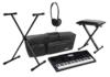 Casio CTK-6200 Keyboard-Deluxe-SET mit Ständer, Bank, Kopfhörer und Tasche (61 Tasten im Klavier-Syle, 700 Sounds, 210 Styles, Netzteil, USB Anschluss) -