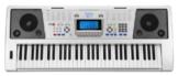 Funkey 61 Plus Keyboard (61 Tasten, Anschlagdynamik, 100 Klangfarben, 100 Rhythmen, 6 Demo Songs, Netzteil, Notenständer) -
